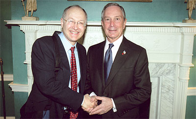 Max Lifchitz and NYC Mayor Michael Bloomberg